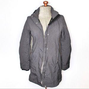Roots Coat Grey Winter Coat Size Small